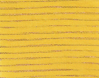 Metallic Chambray in Jazz, Yellow Fabric, Gold Fabric, Metallic Fabric, Chambray, Chambray Fabric, Metallic Stripe