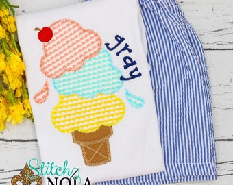 Ice Cream Cone Shirt and Shorts, Ice Cream Shirt, Triple Ice Cream Cone Shirt and Shorts Set, Summer Outfit