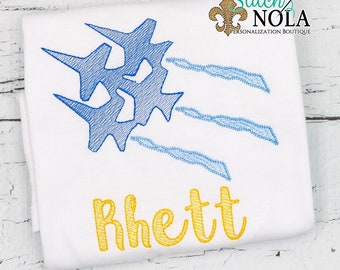 Jets Sketch Embroidery, Blue Angels, Navy Blue Angels
