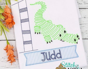 Alligator Birthday Sketch Embroidery, Alligator Birthday, Gator Birthday