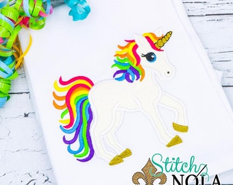 Rainbow Unicorn Applique, Unicorn Applique, Unicorn Shirt, Unicorn Birthday