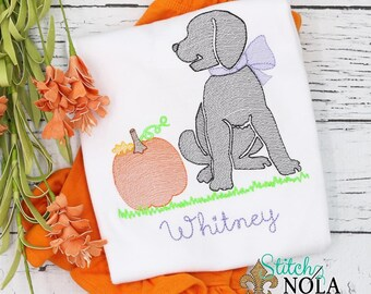 Pumpkin Dog Shirt and Shorts Set, Pumpkin Patch Outfit, Pumpkin Embroidery, Puppy with Pumpkin Outfit