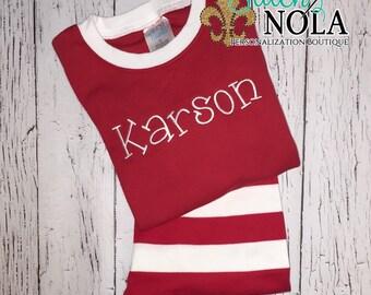 Christmas Pajamas, Monogrammed Christmas Pajamas, Christmas Gown, XMAS Pajamas, Monogrammed Xmas Pajamas, Monogram Jammies