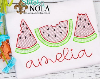 Watermelon Sketch Personalized Shirt, Watermelon Shirt, Summer Shirt