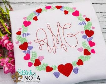 Valentine's Day Wreath Monogram Shirt