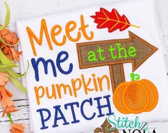 Meet me at the Pumpkin Patch Shirt, Fall Applique Shirt, Pumpkin Patch Shirt