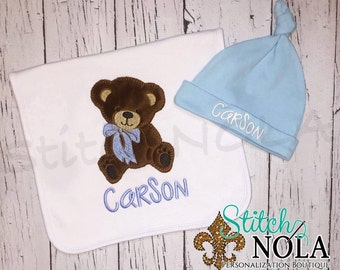SHIPS FAST!!  Teddy Bear Bib, Burp Cloth, Shirt, Bodysuit, Romper or Bubble