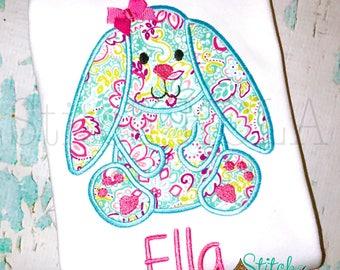 Floral Bunny Easter Shirt, Gown or Bodysuit-Boy or Girl