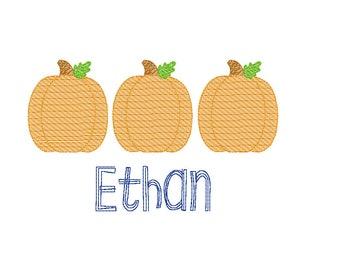 Pumpkin Trio Sketch Embroidery, Vintage Pumpkin, Pumpkin Patch Outfit, Vintage Pumpkin Shirt
