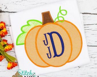 Pumpkin Applique, Pumpkin Applique, Pumpkin Monogram Applique, Fall Applique, Pumpkin Patch Outfit,Pumpkin
