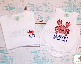 Crab Shirt, Gown, Bodysuit, Romper or Bubble