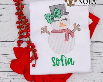 Christmas Snowman Sketch Top And Bottom Set, Christmas Outfit