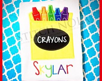 Crayons Tee or Bodysuit