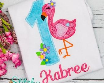 Flamingo Alpha Tee, Bodysuit, Dress, Bubble, Unisex Bubble, Ruffle Bubble, Romper, Flutter Bubble, Flamingo Birthday