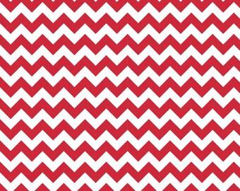 FLANNEL Red Small Chevron Fabric, Riley Blake, 100% Cotton Flannel, Red Chevron