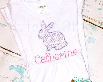 Daisy motif BUNNY, Vintage Bunny, Easter Shirt, Vintage Easter Shirt