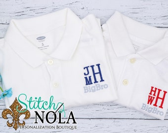 Big Bro Monogrammed Collared Shirt