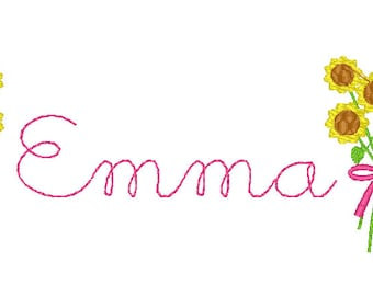 Sunflowers Name, Flowers with Name, Monogram with Flowers