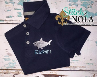 Shark Collared Shirt ONLY