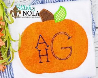 Boys Personalized Pumpkin Shirt and Shorts Set, Pumpkin Outfit, Fall Festival Outfit, Initial Pumpkin Shirt