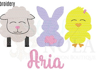 Easter Sketch Embroidery