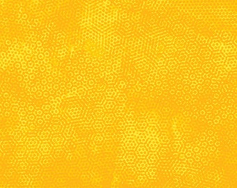 Dimples in Honeyoe by Andover Fabrics, Yellow Dimples, Yellow Fabric, Yellow Quilting Fabric