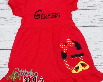 Magical Alpha with Bow and Shoes Applique, Magical Applique
