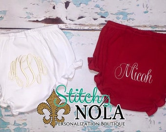 SHIPS FAST!!  Monogrammed Bloomers
