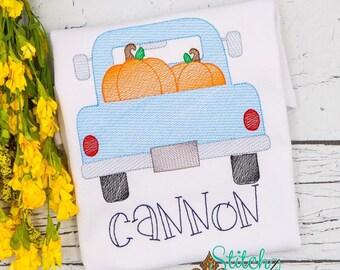 Fall Pumpkin Truck Sketch Shirt, Pumpkin Sketch Shirt, Fall Shirt, Pumpkin Truck Shirt