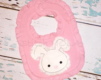 Shabby Bunny Bib, Burp Cloth or Gown