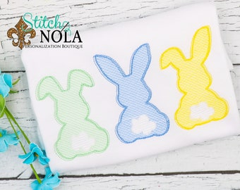 Bunny Sketch Trio, Bunny Vintage Trio, Easter Shirt, Bunny Shirt, Girl Bunny Trio, Boy Bunny Trio