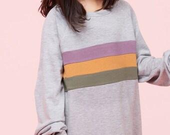 Mardi Gras Color Block Sweatshirt