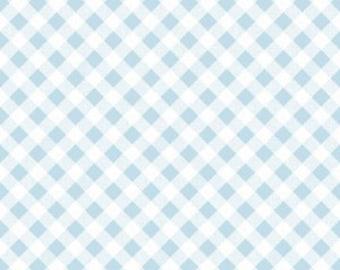AQUA GINGHAM  by Riley Blake, 100% Cotton, Aqua Check