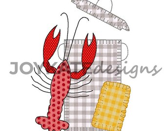 Crawfish Boil Applique, Crawfish Boil Applique, Crawfish Boil Shirt, Crawfish Applique