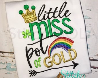 Little Miss Pot of Gold Shirt or Bodysuit