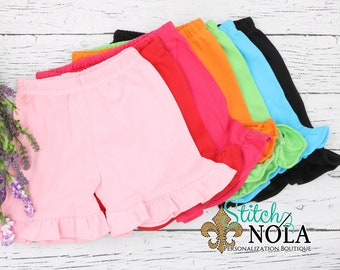 Ruffle Shorts, Girl Shorts, Summer Shorts, Toddler Shorts, Youth Shorts