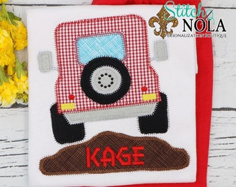 Jeep Shirt and Shorts, Summer Jeep Applique Shirt, Jeep Shirt, Shirt and Shorts Set for Summer