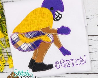 Purple and Gold Football Player Shirt, Football Shirt, Boys Purple and Gold Football Shirt