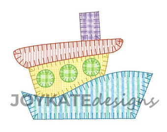 Tug Boat Applique, Tug Boat, Tug Boat Shirt, Boat Applique, Toddler Tug Boat Shirt, Fishing Applique