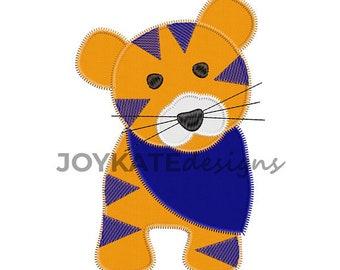 Tiger Applique, Tiger Football Shirt, Girl Tiger Applique, Boy Tiger Applique, Tiger Football Applique