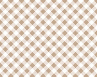 NUTMEG Gingham by Riley Blake, 100% Cotton, NUTMEG Check, Brown Gingham, Brown Check
