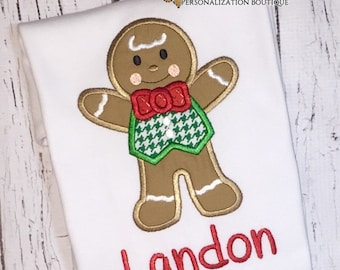 Gingerbread  Man Shirt, Gown, Romper or Bodysuit