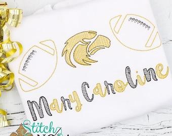 Eagle Trio Sketch Embroidery, Mississippi Football Shirt, Mississippi Football, Golden Eagles