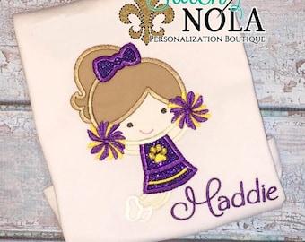 Purple and Gold Cheerleader Shirt or Bodysuit