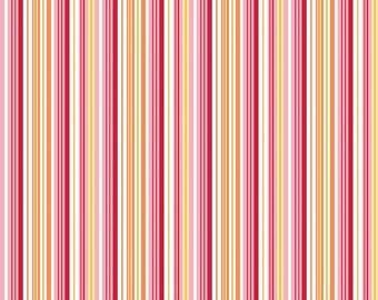 DANDY STRIPE PINK Fabric, Riley Blake, 100% Cotton, Pink Stripe