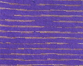 Metallic Chambray in Violet, Purple Fabric, Metallic Fabric, Chambray, Chambray Fabric, Metallic Stripe, Purple Metallic Fabric