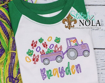 Mardi Gras Sketch Embroidery