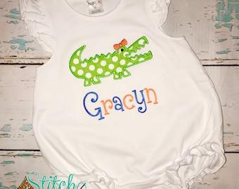 Alligator Bubble, Tee, Gown, or Bodysuit, Florida gators