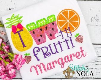 Two-tti Frutti Applique, Tutti Fruitti Applique, Twotti Fruitti Birthday Shirt, Tutti Fruitti Birthday