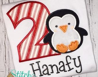 Penguin Birthday Shirt or Bodysuit